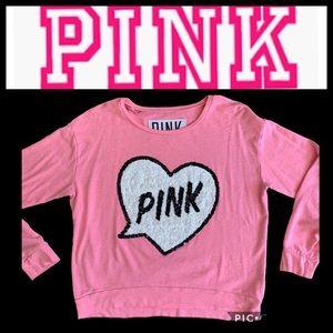 PINK Victoria's Secret Sweatshirt Sequined Large